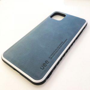 Ốp lưng điện thoại da Uee xanh dương2