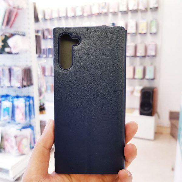 Bao da điện thoại samsung x-level xanh than3