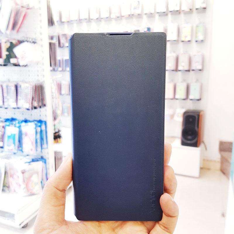 Bao da điện thoại samsung x-level xanh than2