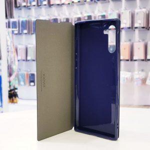 Bao da điện thoại samsung x-level xanh than1