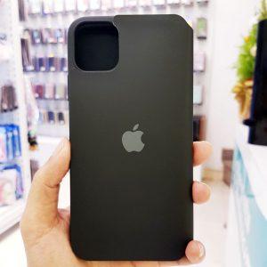 Bao da điện thoại chống bẩn logo táo đen3