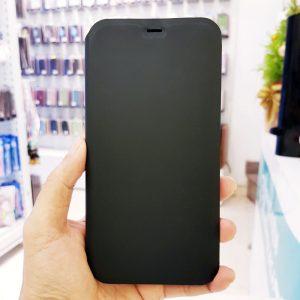 Bao da điện thoại chống bẩn logo táo đen2