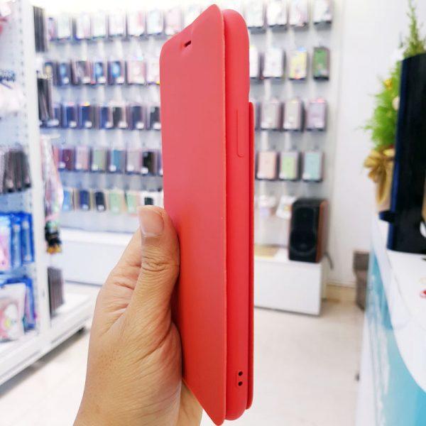 Bao da điện thoại chống bẩn logo táo đỏ4