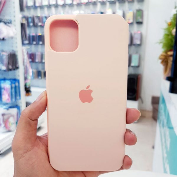 Bao da điện thoại chống bẩn logo táo hồng3