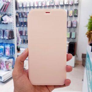 Bao da điện thoại chống bẩn logo táo hồng2