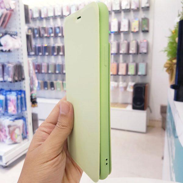 Bao da điện thoại chống bẩn logo táo xanh cốm3