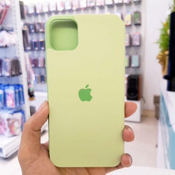 Bao da điện thoại chống bẩn logo táo xanh cốm2