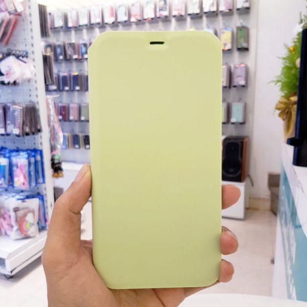 Bao da điện thoại chống bẩn logo táo xanh cốm1