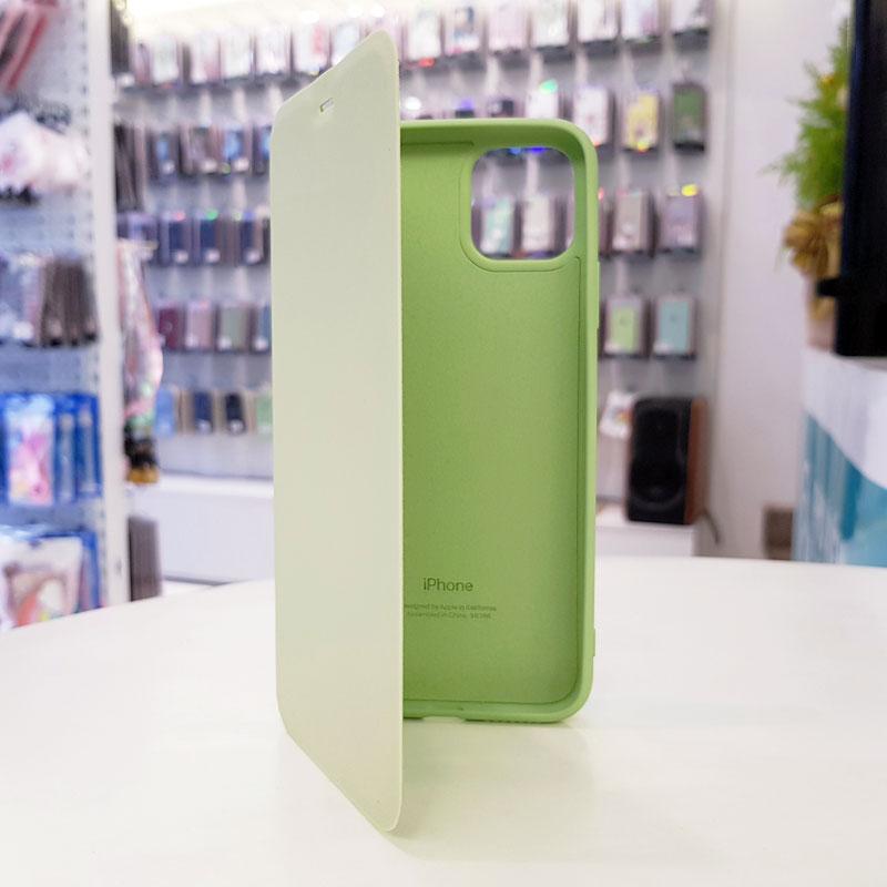 Bao da điện thoại chống bẩn logo táo xanh cốm
