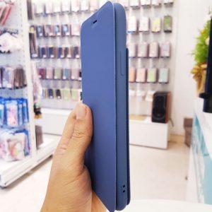 Bao da điện thoại chống bẩn logo táo xanh than4