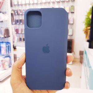 Bao da điện thoại chống bẩn logo táo xanh than3