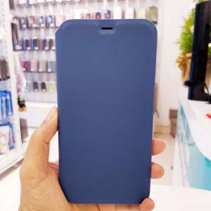 Bao da điện thoại chống bẩn logo táo xanh than2