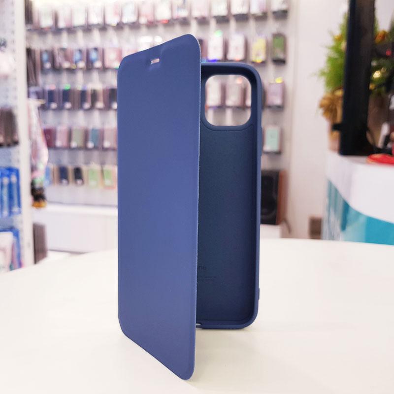 Bao da điện thoại chống bẩn logo táo xanh than