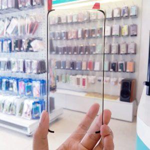 Dán cường lực full keo Samsung cảm ứng nút home dưới màn hình4