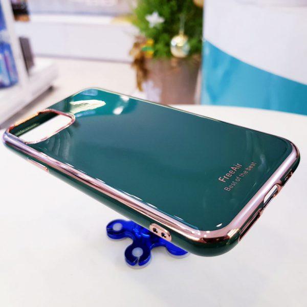 Ốp lưng điện thoại Free Air kèm quả bông xanh ngọc