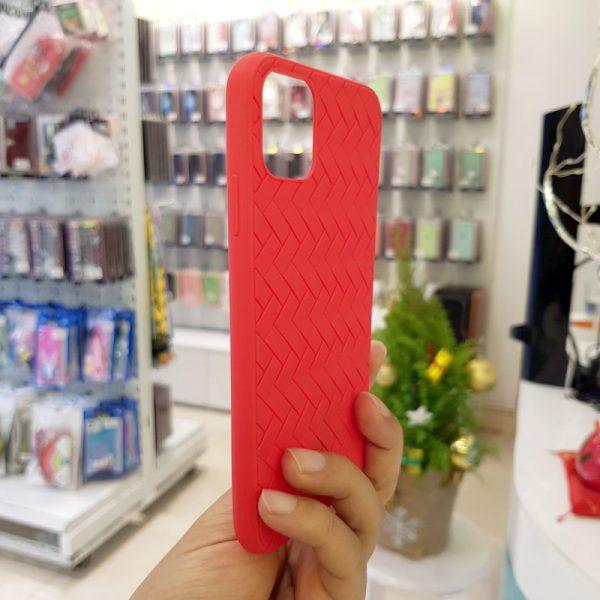 Ốp lưng điện thoại Joyroom đan lưới đỏ4