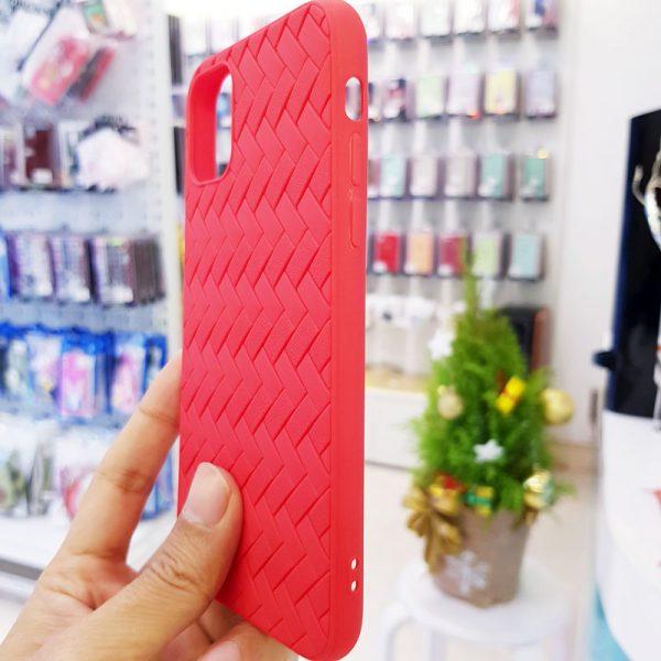 Ốp lưng điện thoại Joyroom đan lưới đỏ3