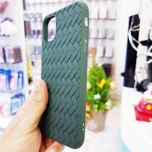 Ốp lưng điện thoại Joyroom đan lưới xanh bộ đội3