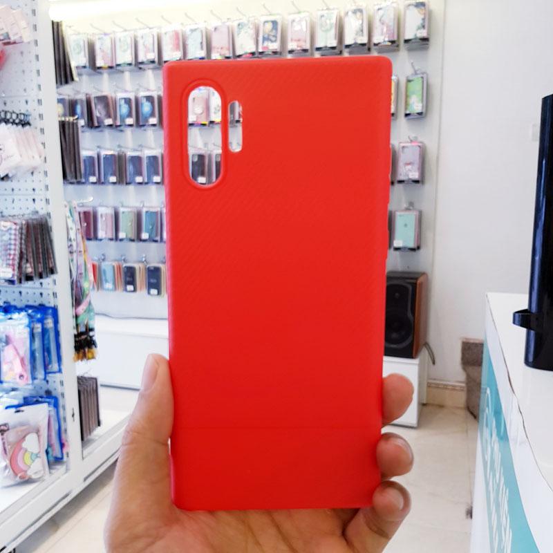 Ốp lưng Note 8 silicon vân carbon Viseaon đỏ