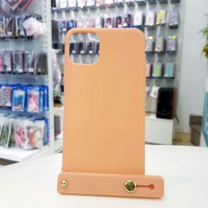 Ốp lưng điện thoại chống bẩn kèm quai da cam