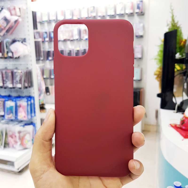 Ốp lưng điện thoại chống bẩn kèm quai nâu đỏ