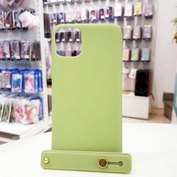 Ốp lưng điện thoại chống bẩn kèm quai xanh cốm
