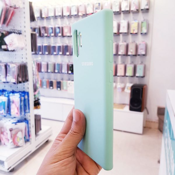 Ốp lưng điện thoại chống bẩn samsung xanh mint2