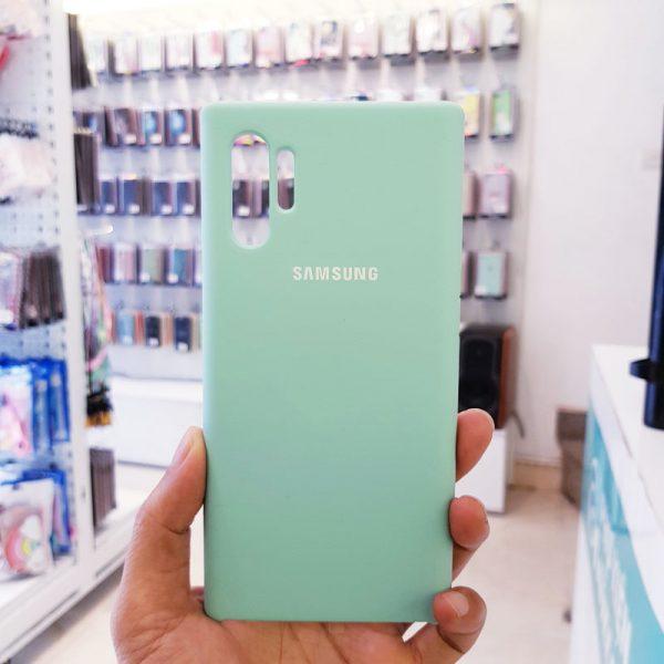 Ốp lưng điện thoại chống bẩn samsung xanh mint1
