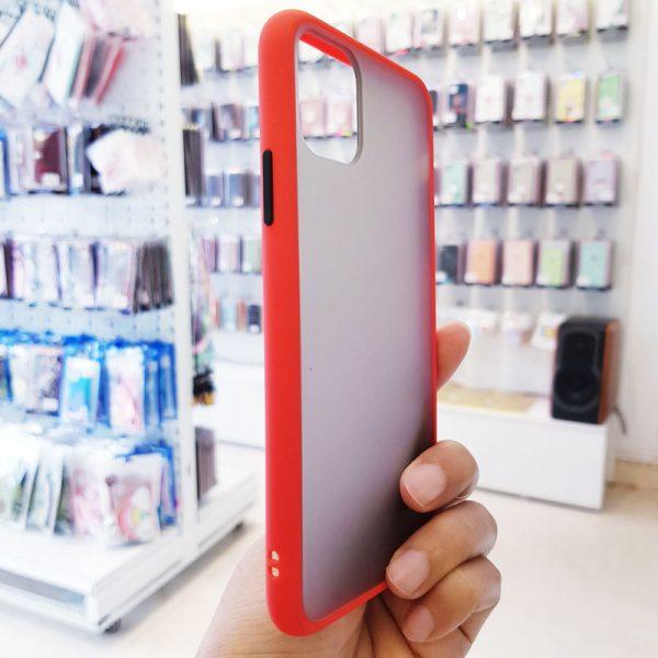 Ốp lưng điện thoại chống vân Aolibao đỏ3