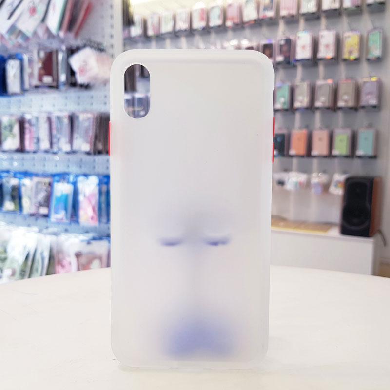 Ốp lưng iPhone X chống vân tay chính hãng Aolibao trắng3
