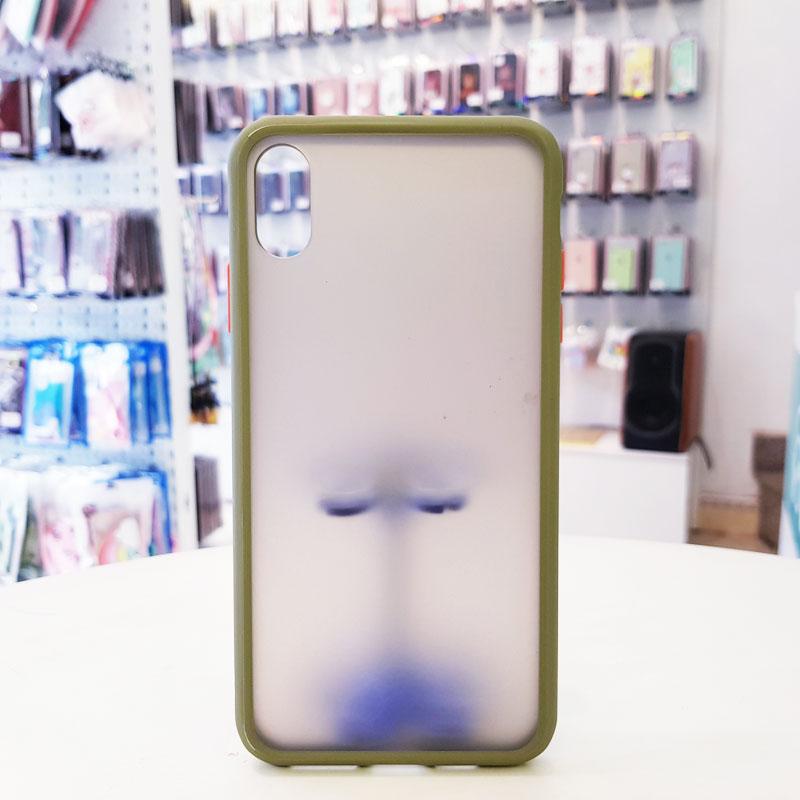 Ốp lưng iPhone X chống vân tay xanh cốm