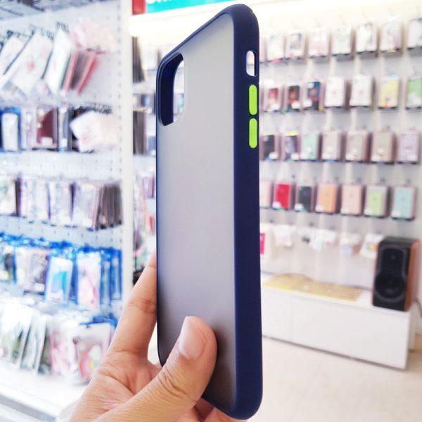 Ốp lưng điện thoại chống vân Aolibao xanh than2