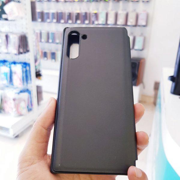 Ốp lưng điện thoại clear view cho samsung đen