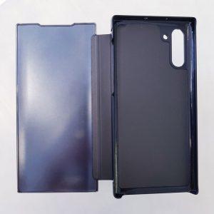 Ốp lưng điện thoại clear view cho samsung đen2
