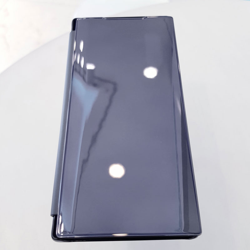 Ốp lưng điện thoại clear view cho samsung đen1