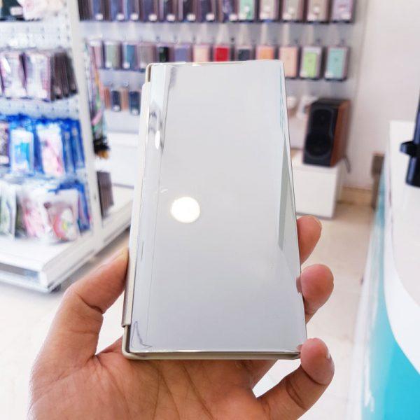 Ốp lưng điện thoại clear view cho samsung trắng2