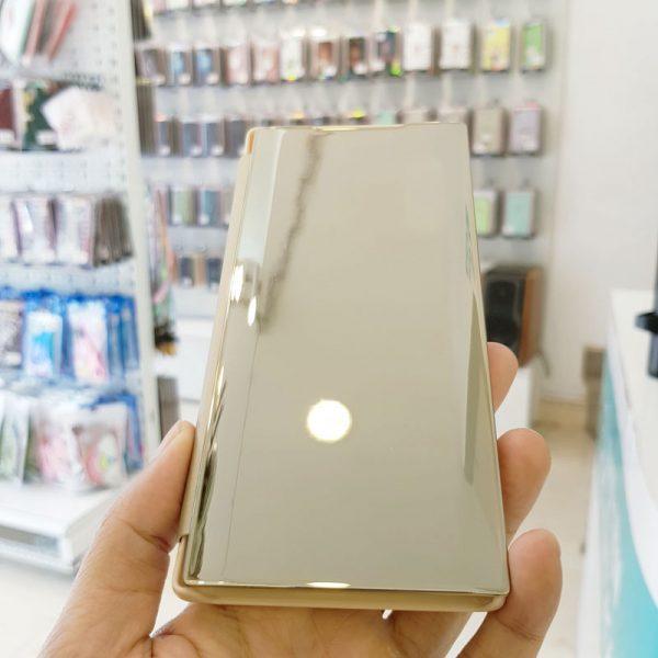 Ốp lưng điện thoại clear view cho samsung vàng2
