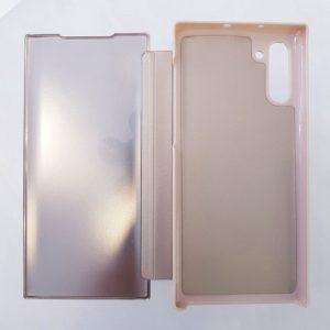 Ốp lưng điện thoại clear view cho samsung vàng1