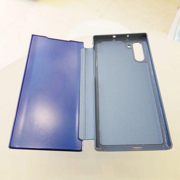 Ốp lưng điện thoại clear view cho samsung xanh than2