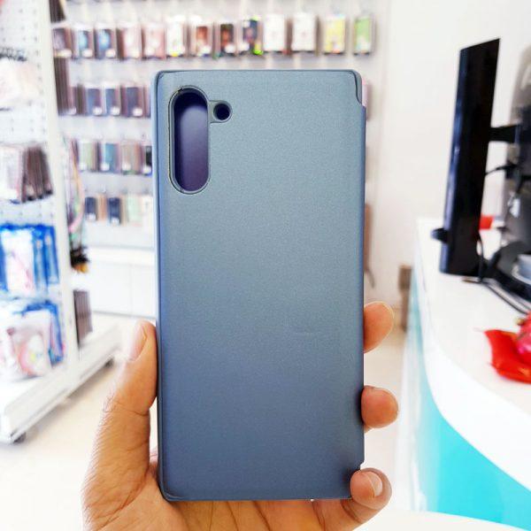 Ốp lưng điện thoại clear view cho samsung xanh than