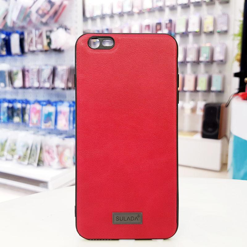 Ốp lưng iPhone Xs Max bằng da hãng Sulada đỏ