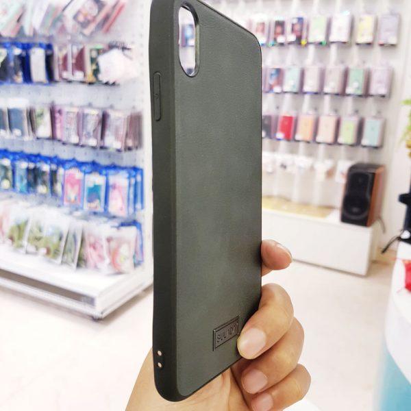 Ốp lưng điện thoại Sulada da xám2