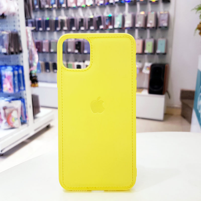 Ốp lưng iPhone X bằng da giá rẻ táo vàng