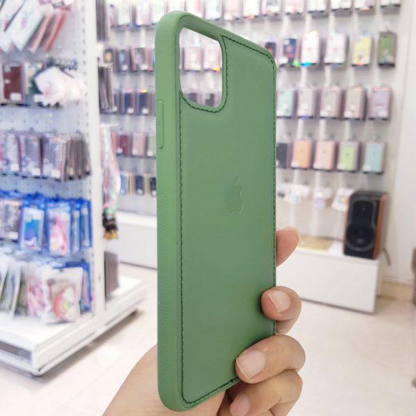 Ốp lưng điện thoại da logo táo xanh bộ đội1