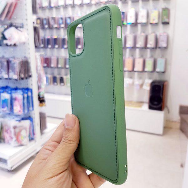 Ốp lưng điện thoại da logo táo xanh bộ đội2