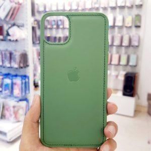 Ốp lưng điện thoại da logo táo xanh bộ đội3