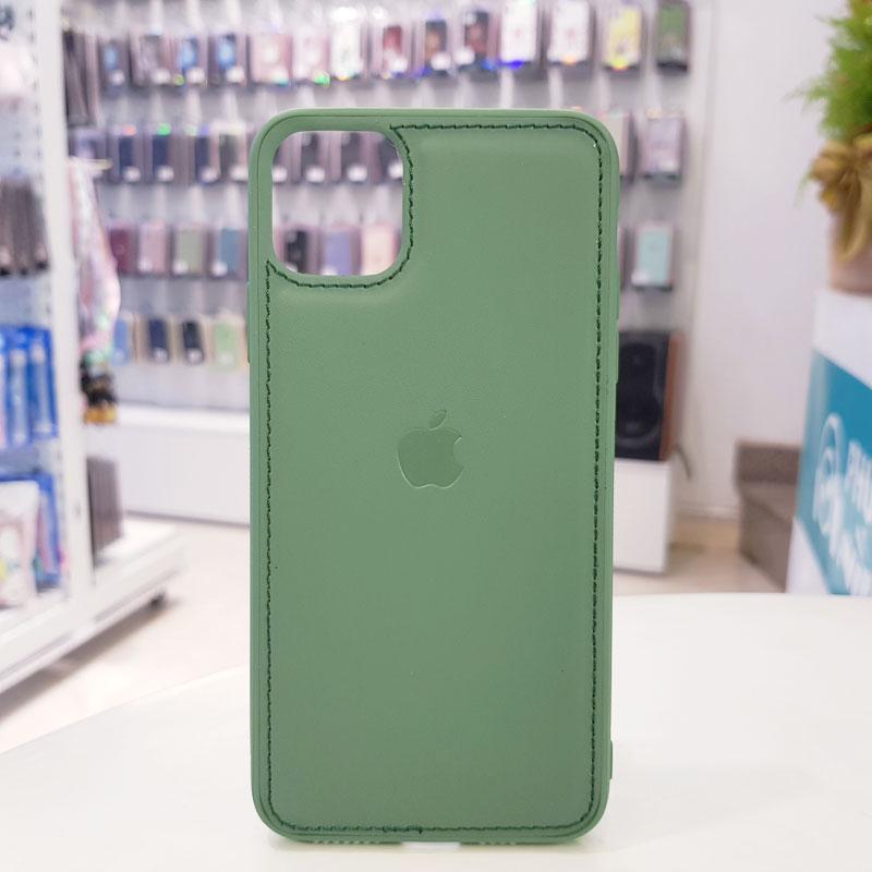 Ốp lưng điện thoại da logo táo xanh bộ đội