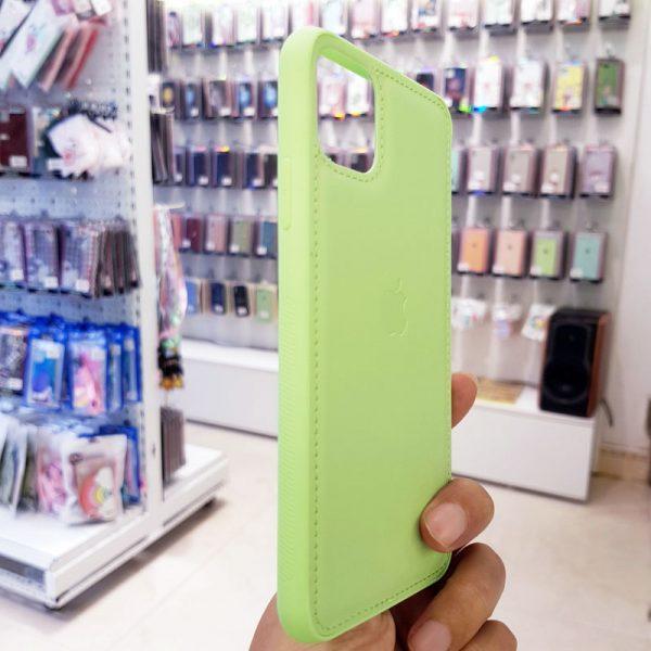 Ốp lưng điện thoại da logo táo xanh cốm3