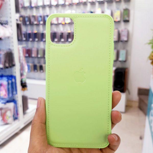 Ốp lưng điện thoại da logo táo xanh cốm