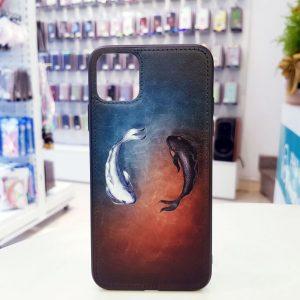 Ốp lưng điện thoại da sơn hình cá màu